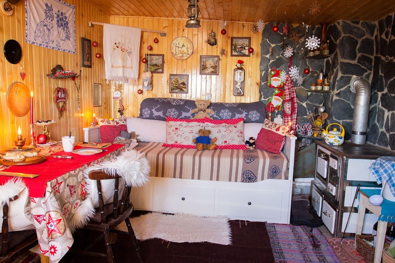 dein Wohnen im Winter in der Hütte