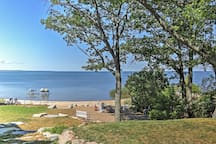 Enjoy easy access to the water directly behind the home.