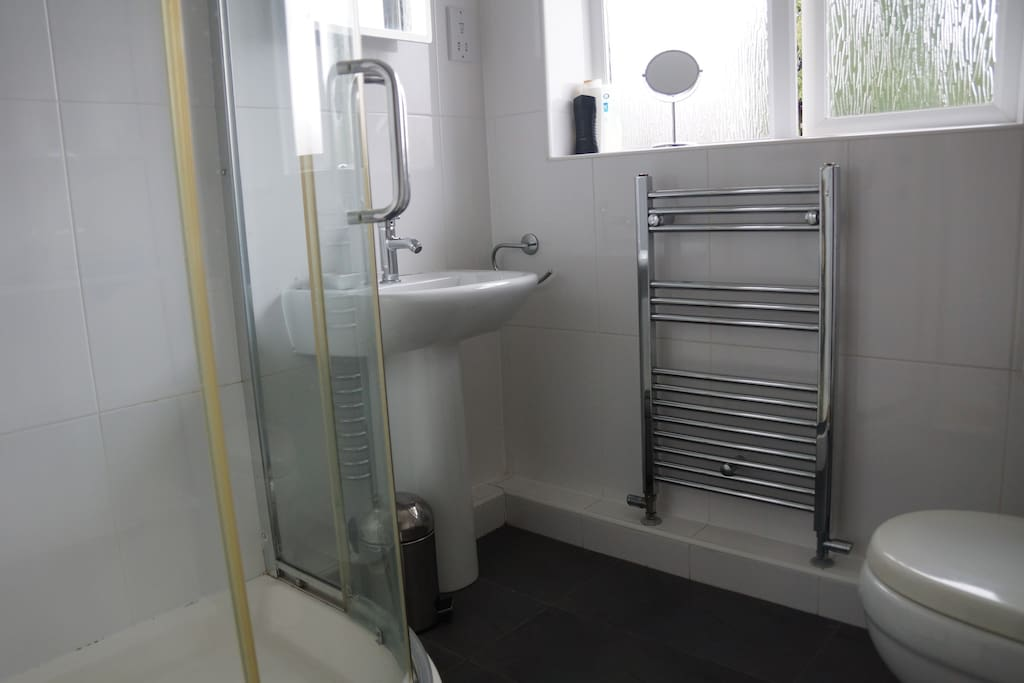 Ensuite shower room - attached