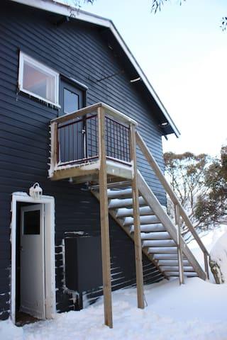 Back entrance and fire escape