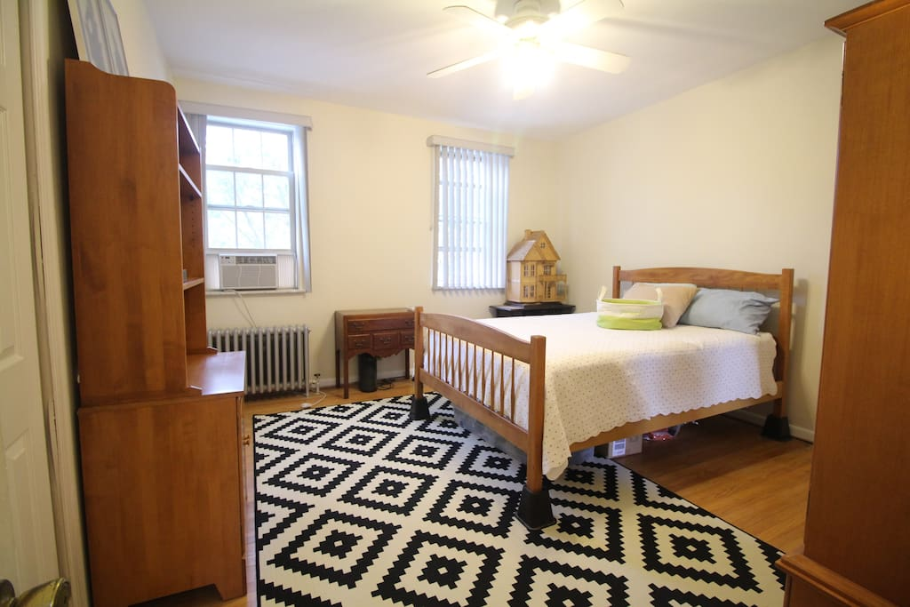 1st bedroom.  Queen size in the front of house