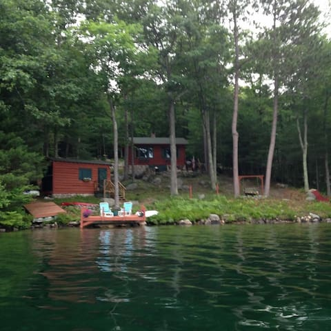 View of the Cabin from on the lake.