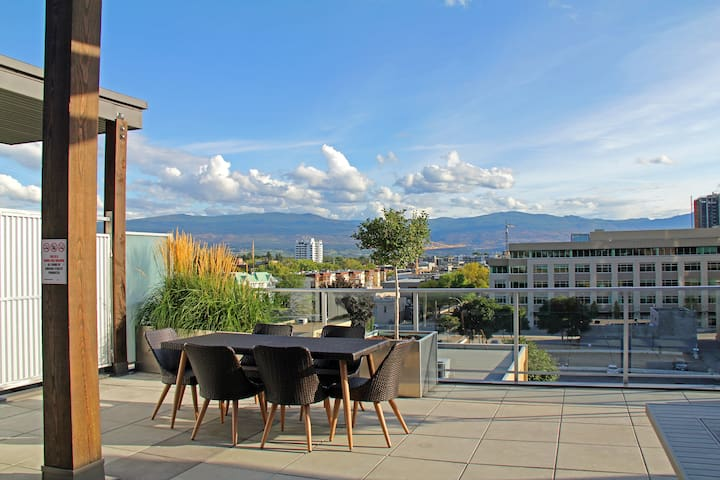 View from the common patio area on the 6th Floor.