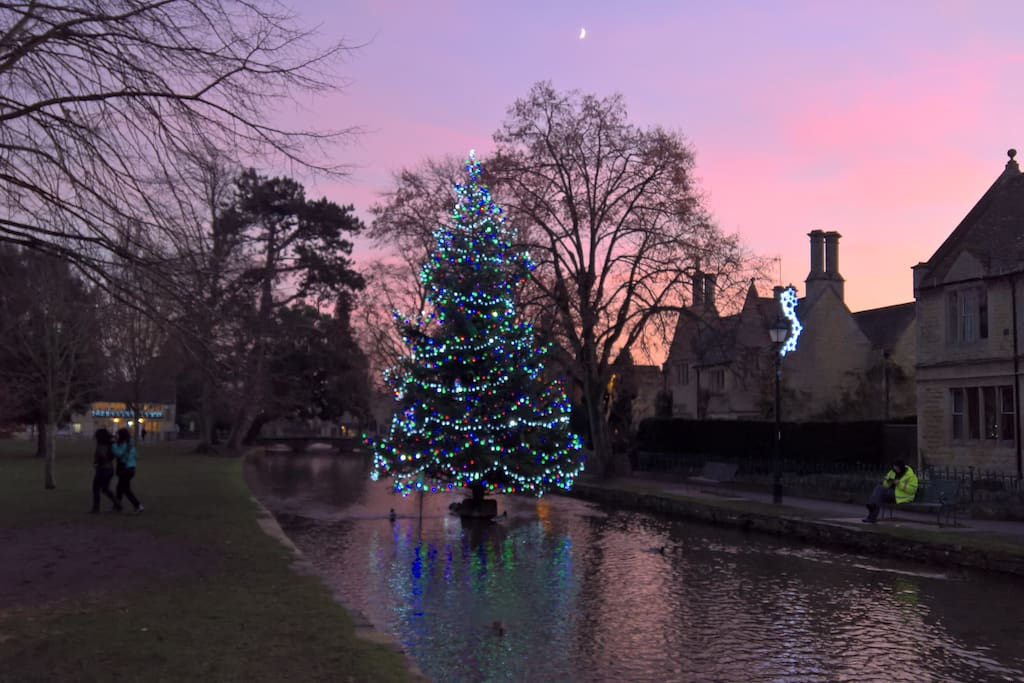 Bourton-on-the-Water. The best place to be at Christmas