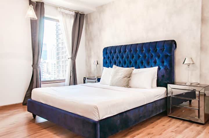 Minutes to JBR beach - HUGE 1 BD -accommodates 4!