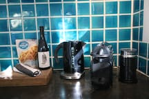 nespresso coffee machine & complimentary goodies on arrival