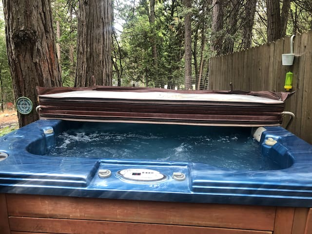 Hot Tub. Seats 7 comfortably. Has 2 pumps for maximum comfort. Lights for enjoyment at night. No alcohol or children under 5 allowed. No skinny dipping, or frisky business please, we share this tub with our kids. ;) Always Supervise kids under 13.