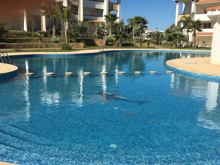 Résidence avec piscines golf Asilah, 5 personnes