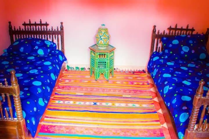chambre 2 lits individuels - Essaouira - Huis