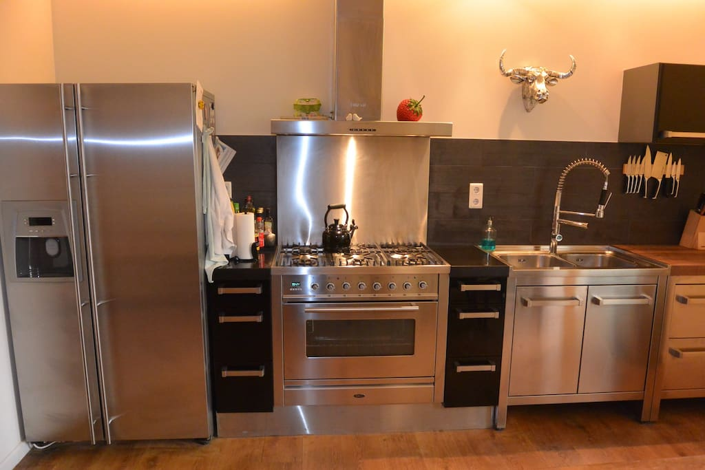 Fully equipped professional spacious kitchen