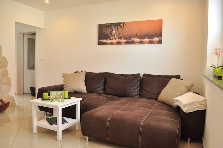 Ferienwohnung in Gehlberg mit Sauna und Kamin - Gehlberg - Appartement