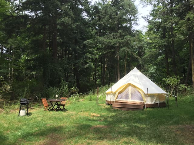 Comfy Bell Tent near Crescent Beach