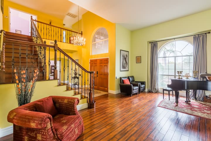 Luxury 5BR designer home with pool & free SUV