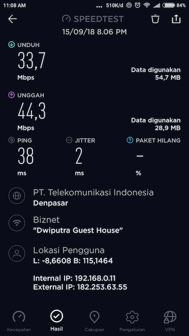 fast speed wifi more 40 Mbps