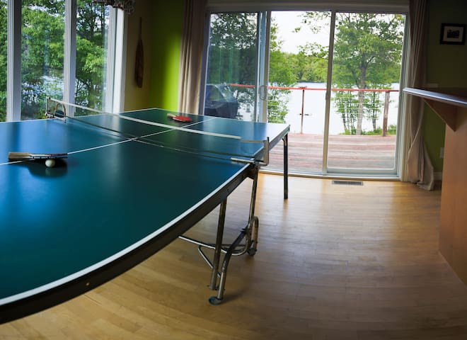Ping pong added next to the kitchen for much deserved breaks.