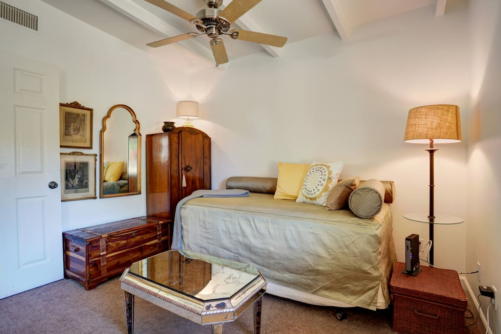 Fine antiques and artwork give this room a rich, special and distinct character.