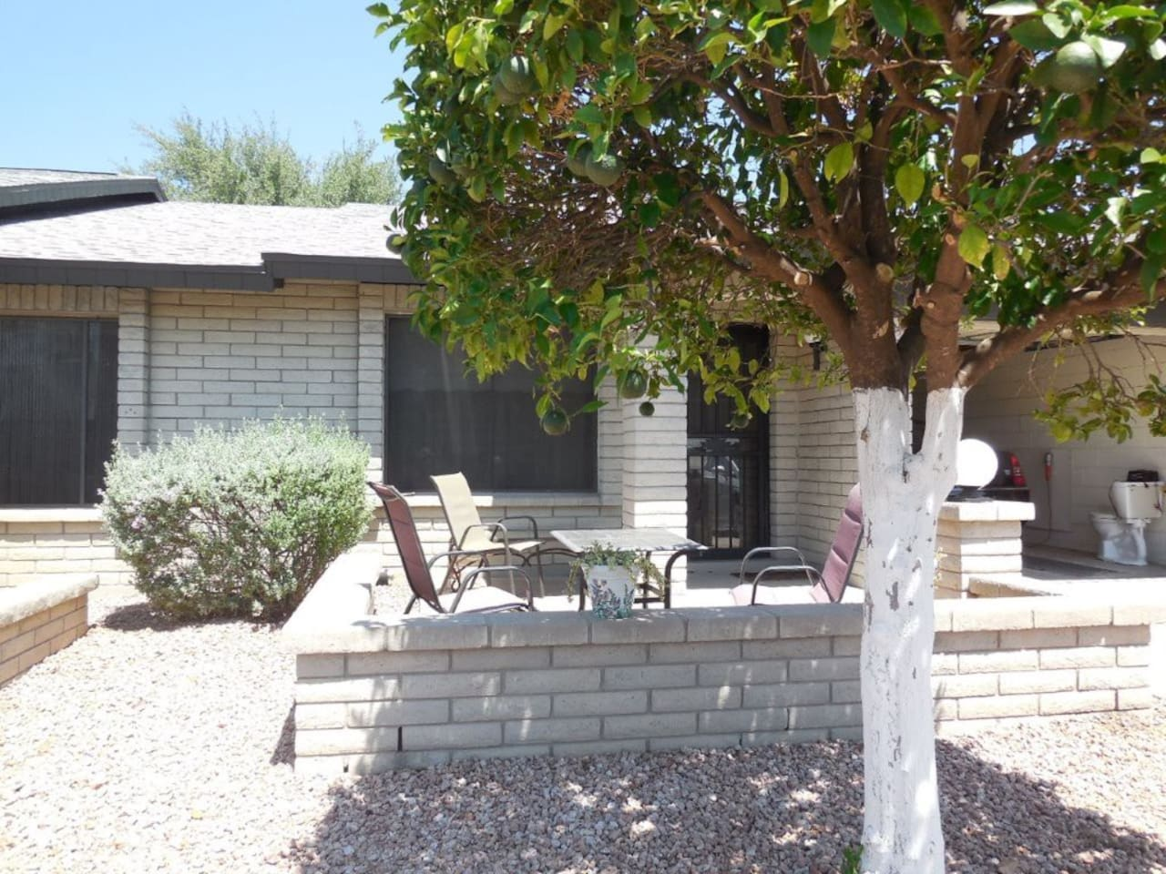 Enjoy the rays and spacious front patio.