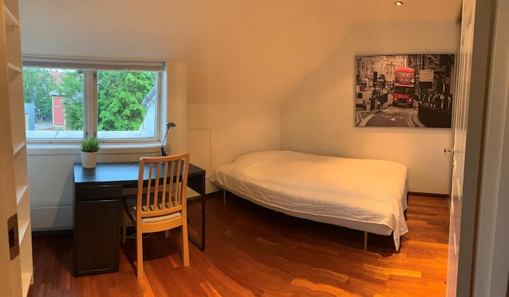 Spacious room in nice apartment in Trondheim