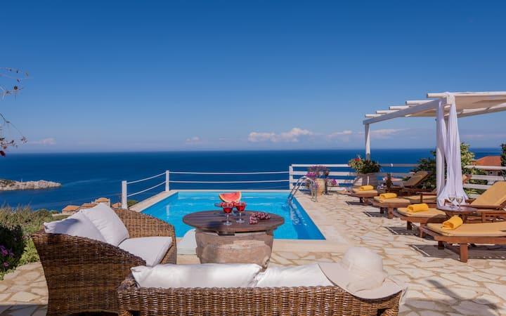 VILLA SOFIA with private pool and sea view