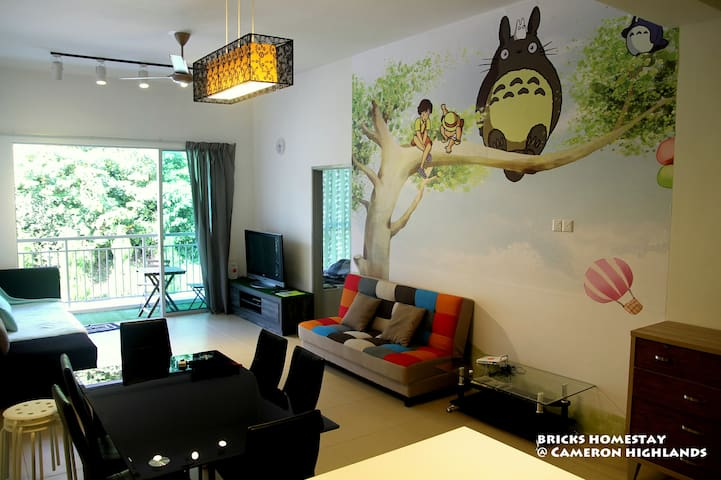 Bricks Homestay -Totoro 2.0 @Cameron Highlands - Tanah Rata - Appartement