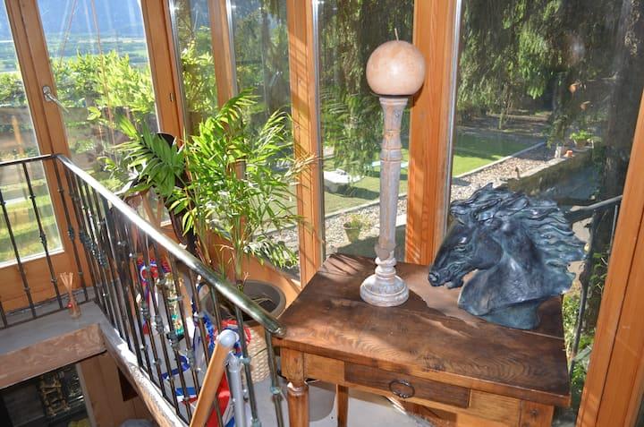 Chambre avec vue imprenable sur la Chartreuse