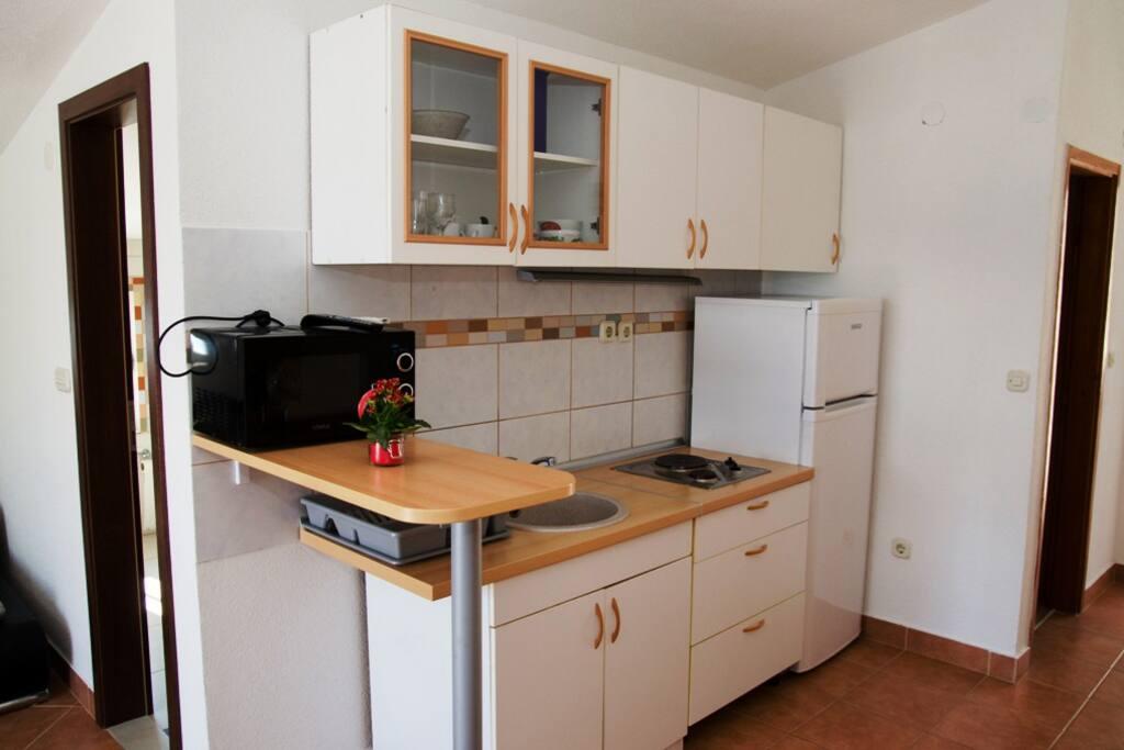 Kitchen in apartment no.1.