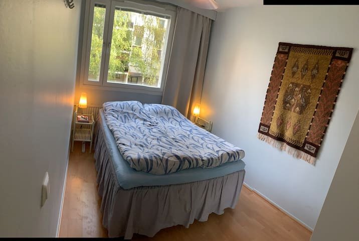 Shared apartment with private bedroom and sauna.