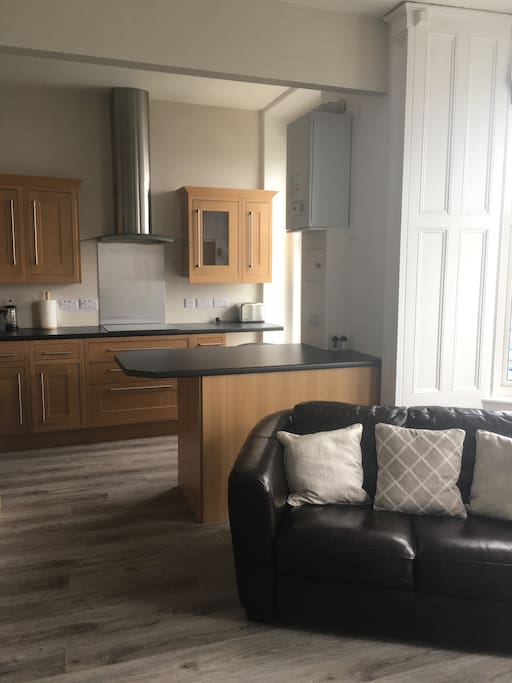 Open-plan kitchen & living room
