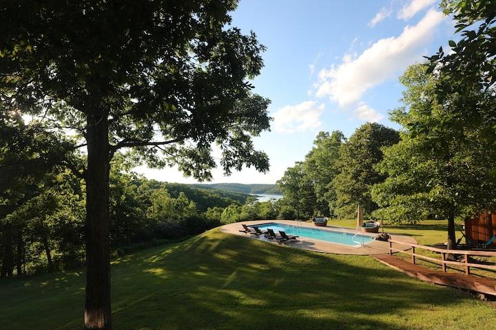Breathtaking Lake Views!  Luxury 12 acre estate