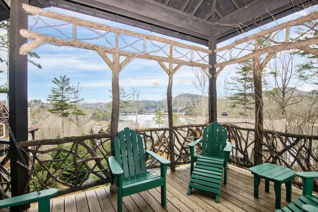 Our large decks, gazebo and outdoor fireplaces are everybody's favorites