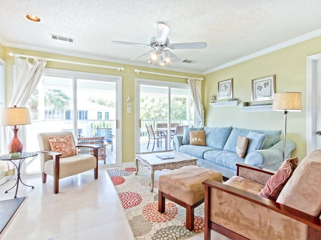 Pet Friendly Home with Fenced in Yard, Just 2 Blocks to Beach - Views of the Tybee Lighthouse! - Lily Pad