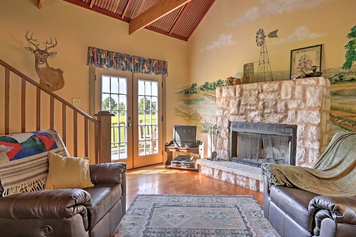Enjoy starting each day from the comforts of the leather couches and the fireplace in the living room
