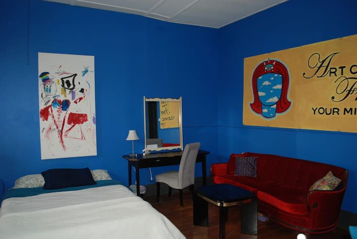 The Blue Room...most popular room in the loft!