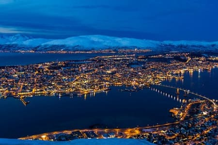 Tromsø is the best places to see the northern ligh - House