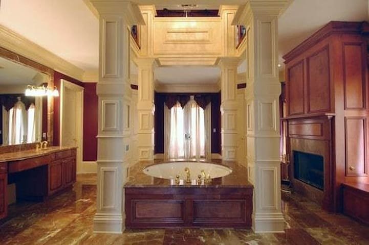 Master Bath designed for a King and Queen.