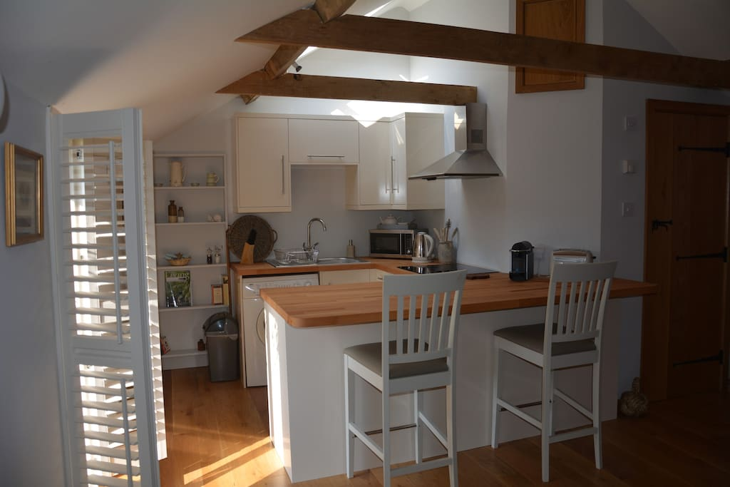 Open plan kitchen with everything you need.