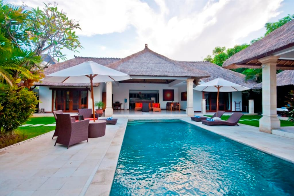 Villa from the pool