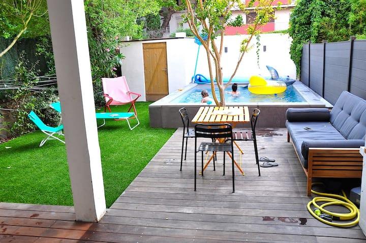 Oasis urbaine dans le centre de Toulouse - Piscine