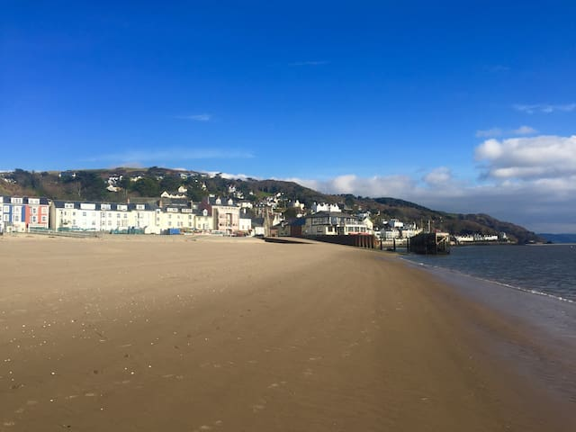 BOATHOUSE pet friendly seafront apartment Aberdyfi