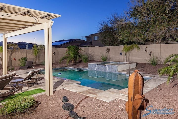 3 bedroom home with a private heated pool, spa and entertainer's backyard - Surprise - Casa