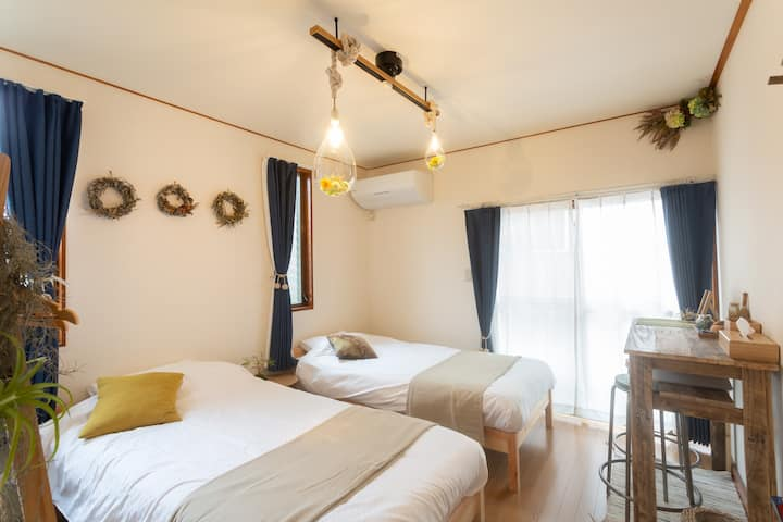 3min to sta. Hakone,Odawara Natural  beds Room