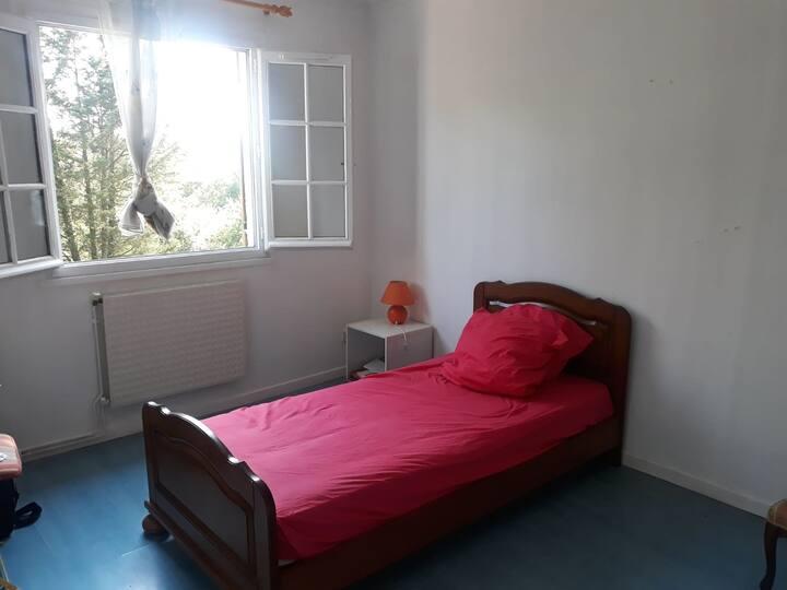 chambre 20m2 dans belle maison à 10min de Lyon
