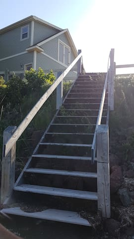 Stairs going to the beach