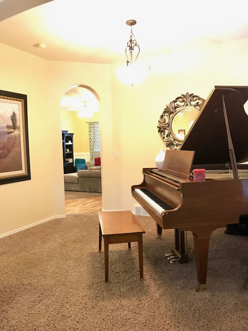 Piano room, main level, closest room to main entrance