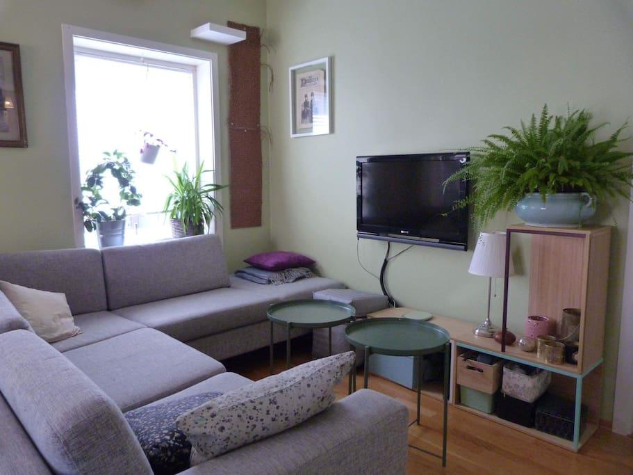 Large, comfortable designer sofa