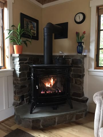 Fireplace waiting for you!