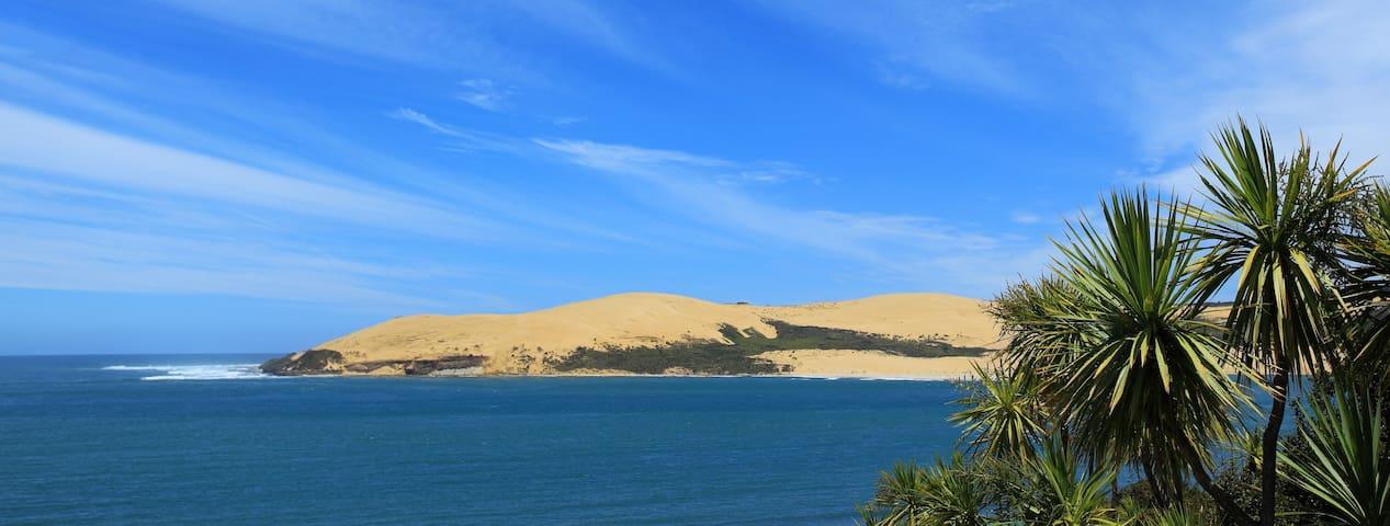 Beautiful Beachfront Omapere: a piece of paradise