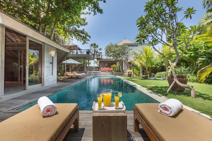 Enjoy the sun in the main pool
