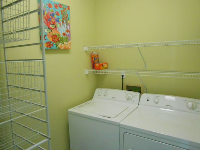 Laundry room on third floor for easy assess from master and guest bedrooms.