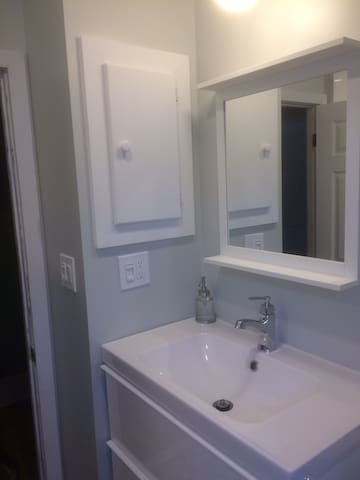 Another view of newly renovated bathroom